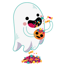 Cute Ghost with Candy
