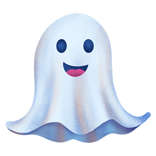 Cute Smiling Ghost