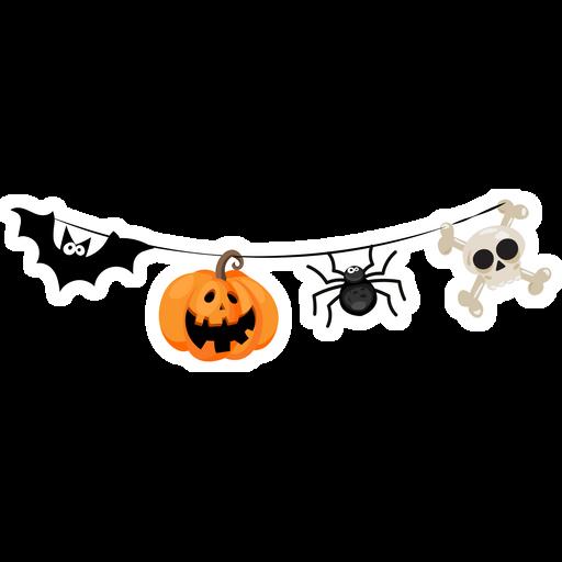 Halloween Garland Sticker