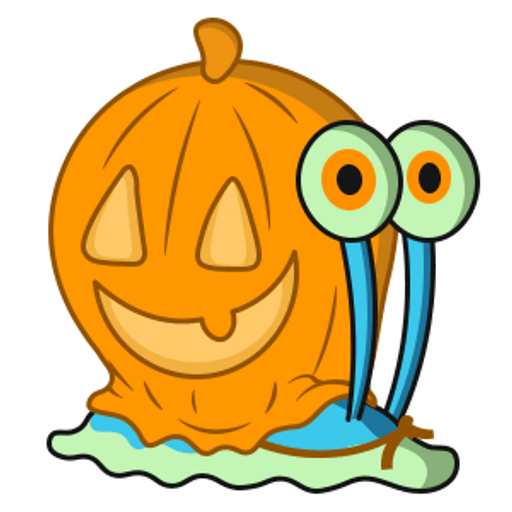 Halloween SpongeBob Gary with Pumpkin