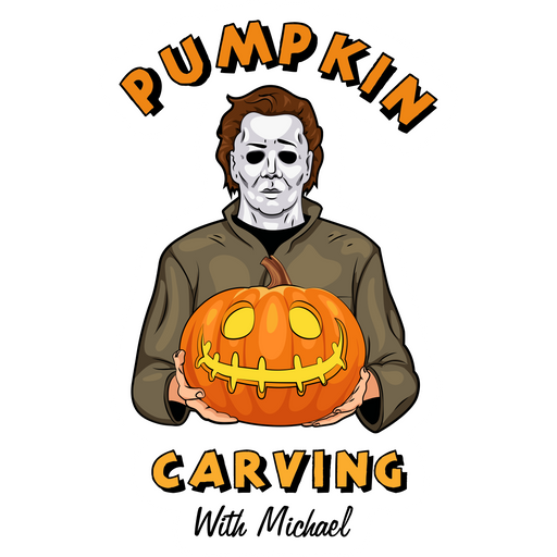 Pumpkin Carving with Michael Myers Sticker