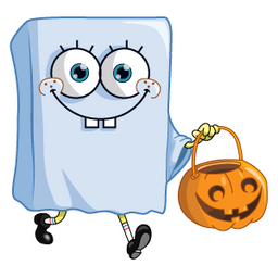 Halloween SpongeBob Ghost