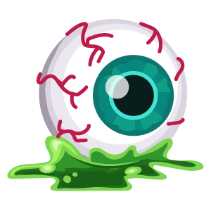 Halloween Eyeball in Slime