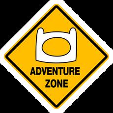 Adventure Zone Road Sign Sticker