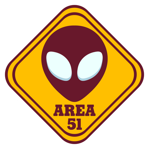 Area 51 Road Sign Sticker