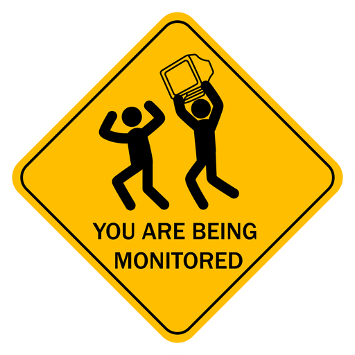 You Are Being Monitored Road Sign Sticker