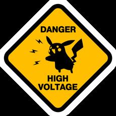 Pikachu High Voltage Road Sign Sticker