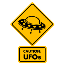 Caution UFOs Sticker