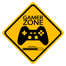 Gamer Zone Road Sign Sticker