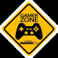 Gamer Zone Road Sign Sticker