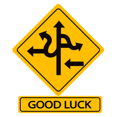 Good Luck Road Sign Sticker