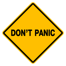 Don't Panic Sign Sticker