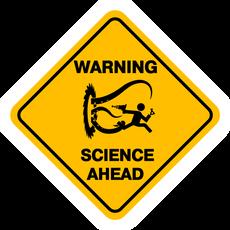 Warning Sign Science Ahead Sticker