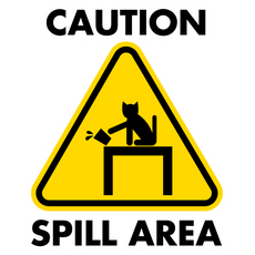 Warning Sign Spill Area Sticker