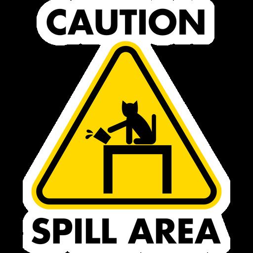 Warning Sign Spill Area Sticker