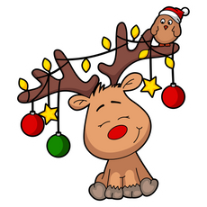 Cute Christmas Deer Sticker
