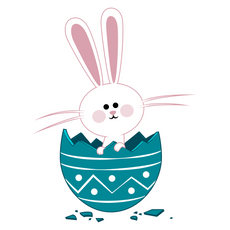 Easter Bunny in Egg Sticker