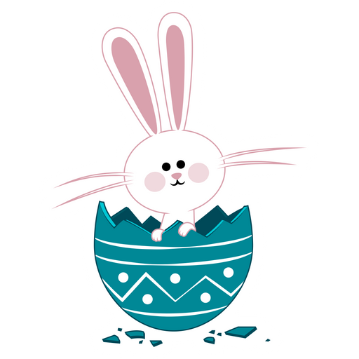 Easter Bunny in Egg Sticker