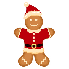 Gingerbread Santa Claus Sticker