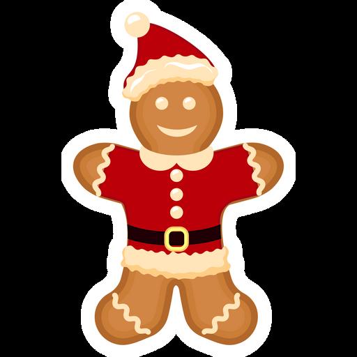 Gingerbread Santa Claus Sticker