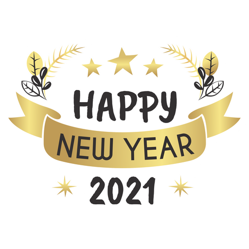 Happy New Year 2021 Sticker