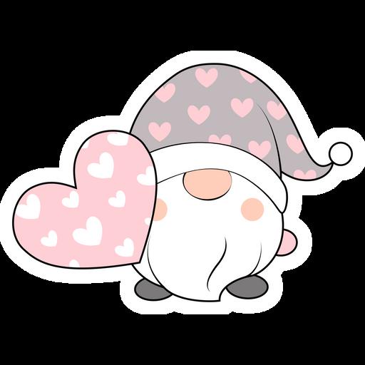 Valentine's Day Lovely Gnome Sticker