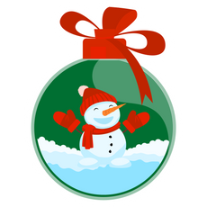 Christmas Tree Toy Sticker