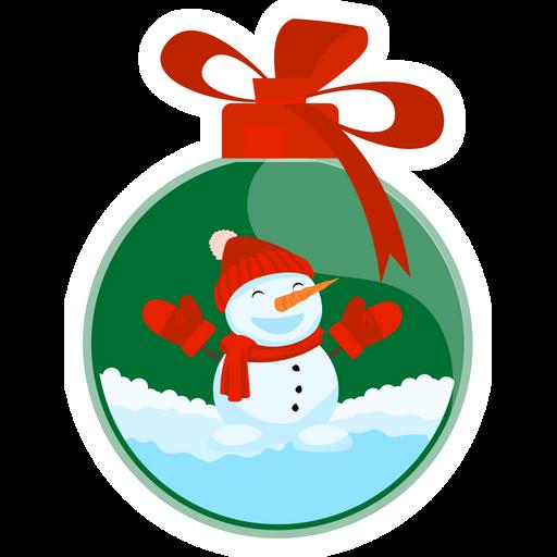 Christmas Tree Toy Sticker