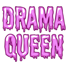 Inscription Drama Queen Sticker
