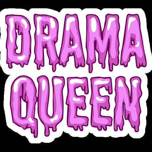 Inscription Drama Queen Sticker