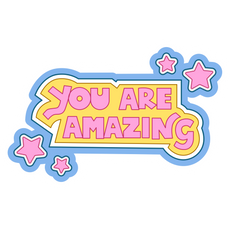 Inscription You Are Amazing Sticker