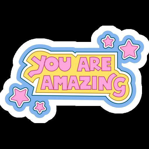 Inscription You Are Amazing Sticker