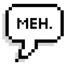 Meh Pixel Speech Balloon Sticker