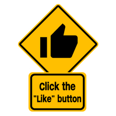 Click the Like Button Road Sign
