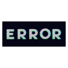 Error on a Black Background Sticker