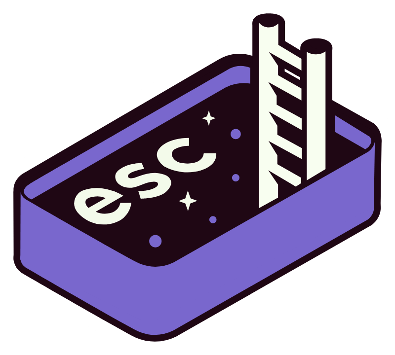 ESC to the Space Button Sticker