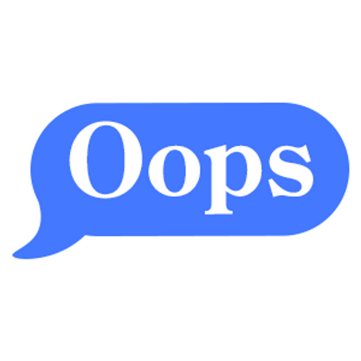 Oops Chat Message Bubble