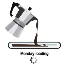 Monday Loading Sticker