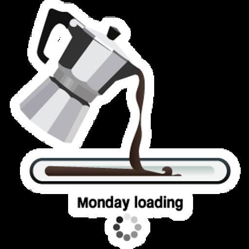 Monday Loading Sticker