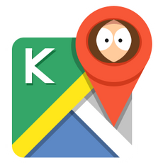 Google Kenny Maps Sticker
