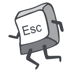 Running ESC Key Sticker