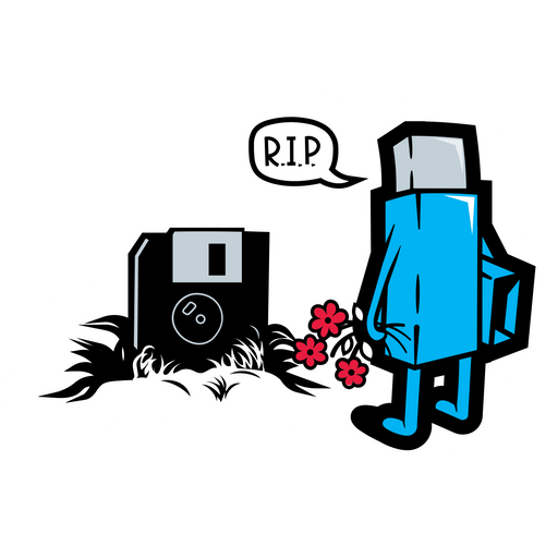RIP Floopy Sticker