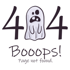 Ghost Error 404 Sticker