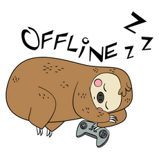 Offline Sleeping Sloth Sticker