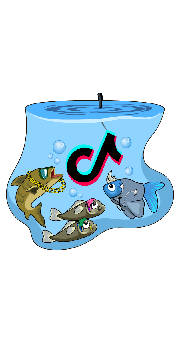 TikTok Fishing Hook Sticker