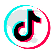 TikTok Logo on top of Planet Sticker