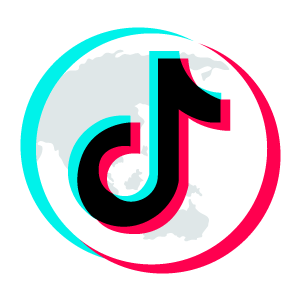 TikTok Logo on top of Planet
