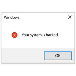 Windows Error Your System is Hacked
