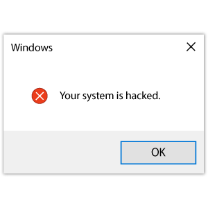 cool and cute Windows Error Your System is Hacked for stickermania