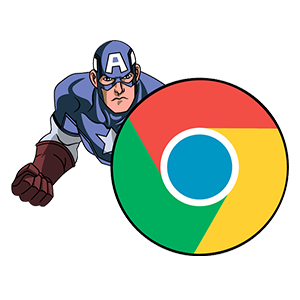 cool and cute Captain Chrome Browser for stickermania